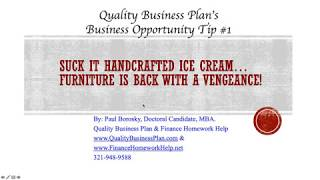 Business Opportunity Tip # 1 for Orlando, FL.: Handcrafted Furniture is back with a Vengeance!