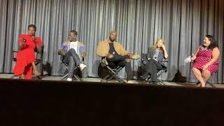 黑豹 BLACK PANTHER Q&A with Danai Gurira, Winston Duke, Sterling K. Brown and Sarah Finn on 1/12/2019.
