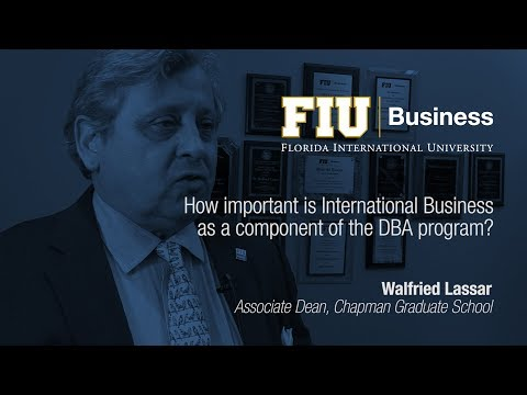 How important is International Business as a component of the DBA program?