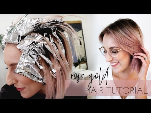 Rose Gold Hair How To Tutorial On Hairstylist My Favorite Color Formula