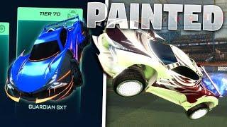 Every Painted 'GUARDIAN GXT' Battle Cars On Rocket League *SHOWCASE*