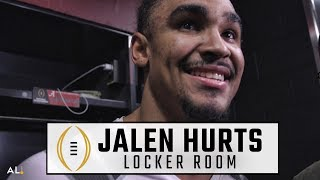Watch Jalen Hurts after winning the National Championship