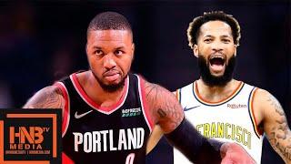 GS Warriors vs Portland Trail Blazers - Full Game Highlights   November 4, 2019-20 NBA Season