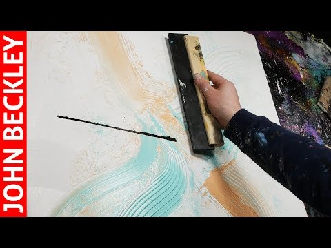 Abstract Painting in Acrylics with a painting knife | Lorian