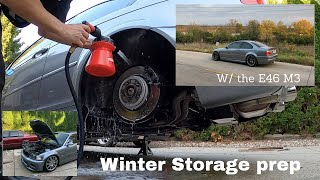 Prepping the E46 M3 for winter storage | My steps to keeping the cars safe all winter