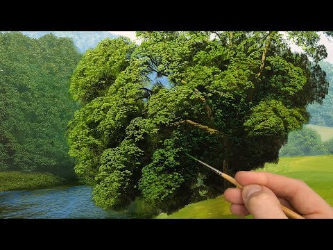 How to paint tree details | Oil painting  episode 136