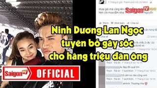 Ninh Dương Lan Ngọc công khai mối quan hệ với ST Sơn Thạch - SAIGONTV