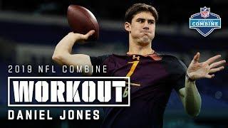 Daniel Jones' 2019 Combine Workout