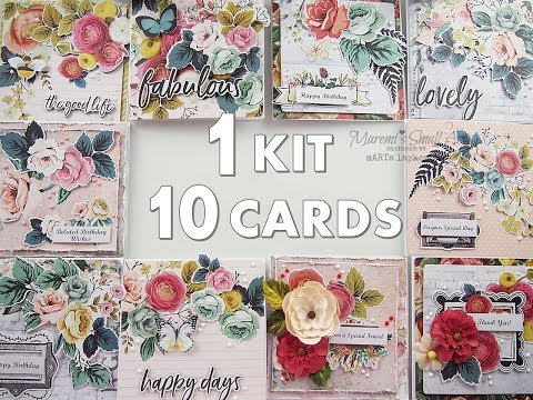 1 Kit 10 Pretty Cards for Beginners ♡ Maremi's Small Art ♡