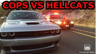 COPS EMBARRASSED BY HOOD HELLCAT OWNERS (POLICE CHASE COMPILATION