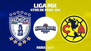 Pachuca [3-1]América | Juego Completo | Liga MX | Clausura 2021 | Cuartos de Final IDA