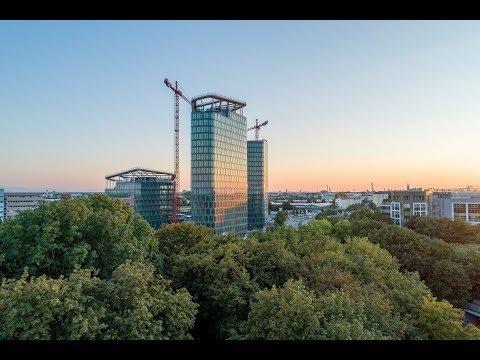 Bavaria Towers München - Baufortschritt im Oktober 2018: Fertigstellung