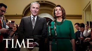 Nancy Pelosi & Chuck Schumer Respond To Trump's Address Following His Remarks | TIME