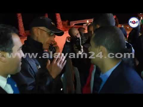لحظة منع دخول بودريقة للجمع العام لرجاء البيضاوي
