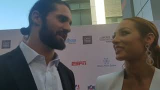 Becky lynch and Seth Rollins Interview