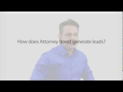 How does Attorney Boost generate leads?
