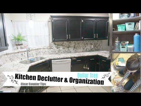 DOLLAR TREE ORGANIZATION & KITCHEN DECLUTTER | CLEANING MOTIVATION | Momma from scratch