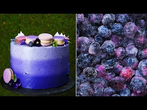 2 hacks, one amazing ombre blueberry cake! | Top Easy Homemade Cake Decoration ideas by So Yummy