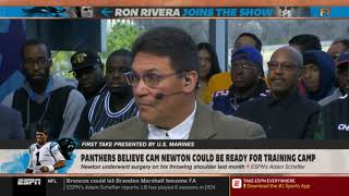 "Stephen A. Smith DOUBTED ""Panthers believe Cam Newton could be ready for training camp"" 