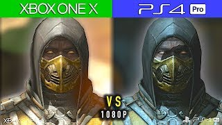 XBOX ONE X  vs  PS4 PRO -  Comparativa Gráfica 1080P    Mortal Kombat X