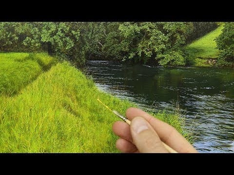 #114 How to paint realistic grass