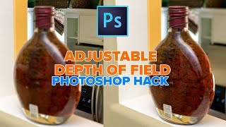 Amazing PHOTOSHOP HACK, Refocus your camera in Photoshop: adjustable depth of field!