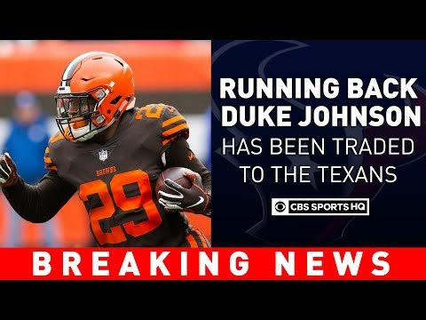 The Cleveland Browns Trade RB Duke Johnson To The Houston Texans  | Breaking News | CBS Sports HQ