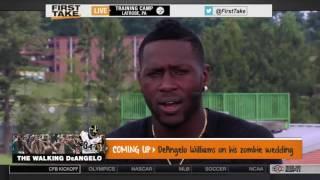 ESPN First Take   Antonio Brown On Steelers and Vontaze Burfict