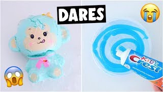 EXTREME SLIME & SQUISHY DARES?! *making toothpaste slime*