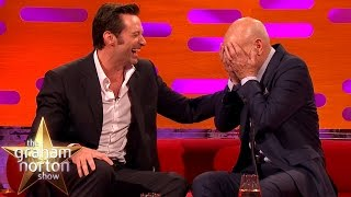 Hugh Jackman Loses It Over Sir Patrick Stewart's Ridiculous Circumcision Story -  Graham Norton Show