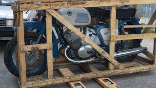 Забытый на 38 лет новый мотоцикл ИЖ Юпитер-3 1976 года в заводской упаковке