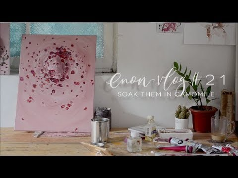 Soak Them In Camomile – OIL x CLAY PAINTING ART VLOG #21