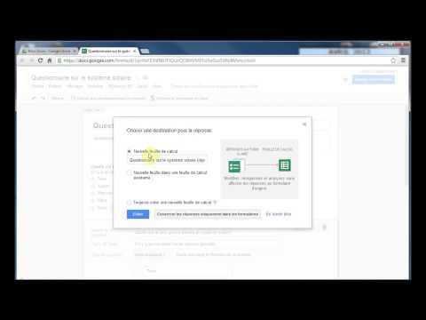 Création et partage de formulaires dans Google Drive (7/7)