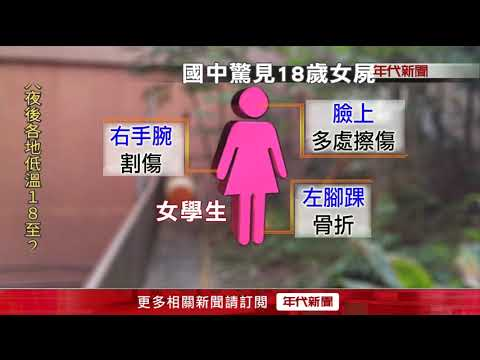 """北市國中驚見18歲女屍 四肢變形""""屍僵"""""""