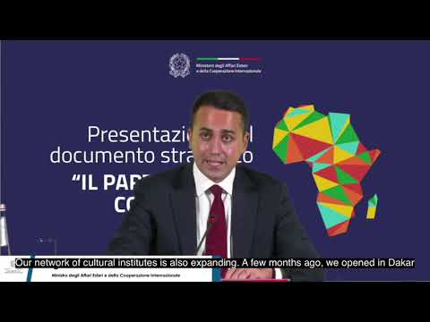 Italian Foreign Minister Luigi Di Maio - Launch of Partnership with Africa & InnovElections