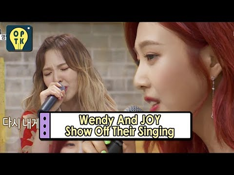 [Oppa Thinking - Red Velvet] Wendy And JOY Show Off Their Voice 20170731