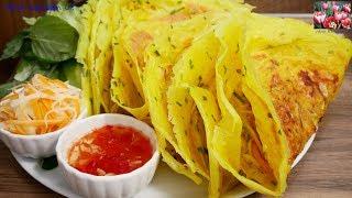 BÁNH XÈO GIÒN - Cách pha Bột để đổ bánh Xèo Miền Nam rất giòn và không ngấm Dầu by Vanh Khuyen