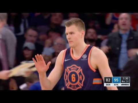 Kristaps Porzingis Becomes 1st Player History To Tally A Block and 3 Pointer In 15 Straight Games