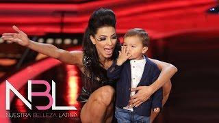 El hijo de Patricia la visitó en la gala de NBL VIP