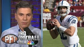 PFT Overtime: Indianapolis Colts without Luck, Jimmy G's 5 INTs | Pro Football Talk | NBC Sports