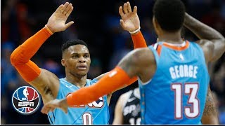 Russell Westbrook, Paul George lead Thunder to win vs. Spurs | NBA Highlights