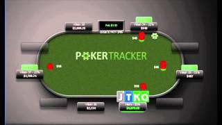 Is KQJT a good hand to squeeze? Check out this PLO1000 HH review for the answer! #squeezehappy