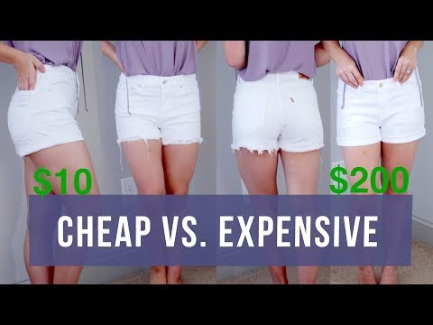 The BEST White Denim Shorts: Cheap vs Expensive | Milabu