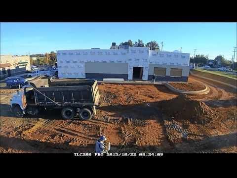 Sasser Companies Commercial Construction Time Lapse - Hursey's Pig Pickin' Bar–B–Q, Mebane, NC