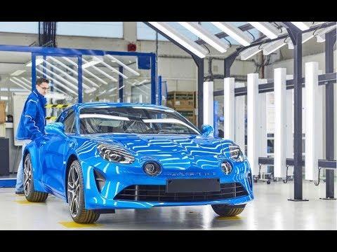 Ligne de production de l'Alpine A110 à Dieppe   Groupe Renault