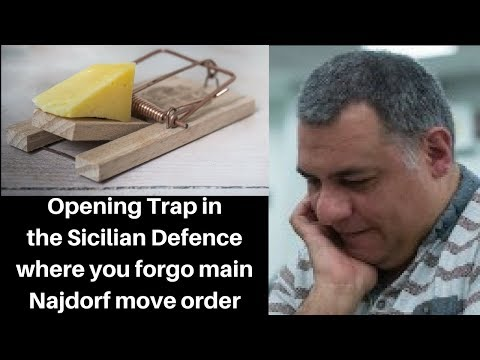 Opening Chess Trap: An trap in the Sicilian Defence where you forgo the main Najdorf move order