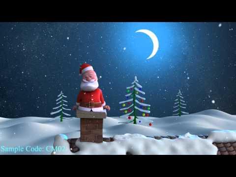 Funny Santa Christmas Greetings with logo