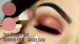 Beginners Eye Makeup Tutorial Using One Matte and One Metallic | How To Apply Eyeshadow