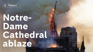 Notre-Dame Cathedral fire: Paris landmark ablaze as spire collapses