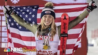 Mikaela Shiffrin makes history with fourth consecutive slalom title | NBC Sports